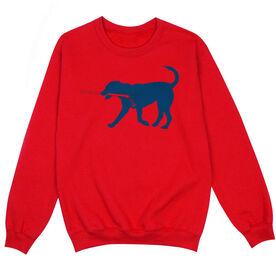 Hockey Crew Neck Sweatshirt - Rocky the Hockey Dog