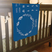 Personalized Baby Blanket - Month Milestones Blanket