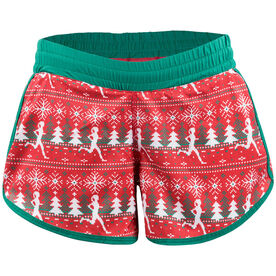 Women's Running Shorts - Ugly Sweater