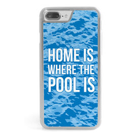 Swimming iPhone® Case - Home Is Where The Pool Is