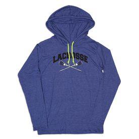 Guys Lacrosse Lightweight Hoodie - Lacrosse Crossed Sticks