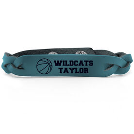 Basketball Leather Engraved Bracelet Personalized