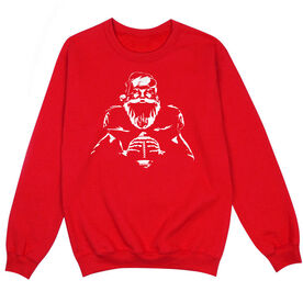 Football Crew Neck Sweatshirt - Santa Football