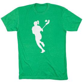 Lacrosse Tshirt Short Sleeve Lax Girl with Shamrock