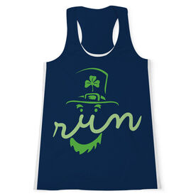 Women's Performance Tank Top - Leprechaun Run Face