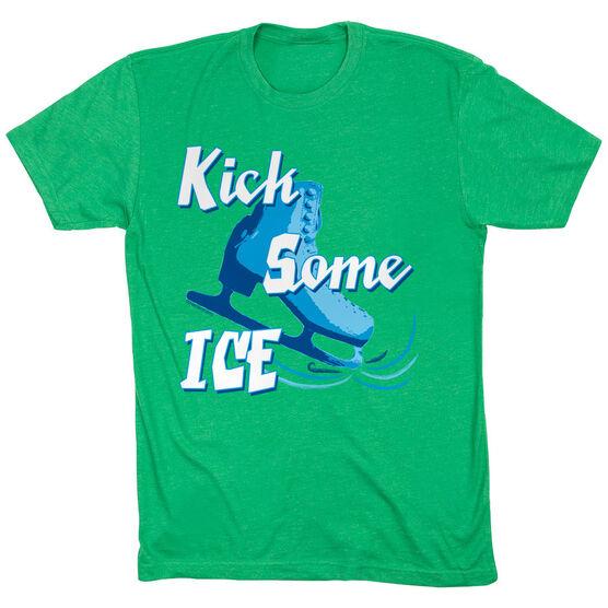 Figure Skating Tshirt Short Sleeve Kick Some Ice