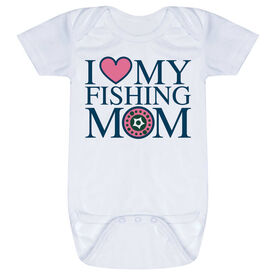 Fly Fishing Baby One-Piece - I Love My Fly Fishing Mom