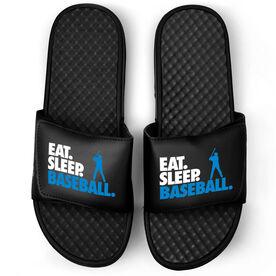 Baseball Black Slide Sandals - Eat Sleep Baseball