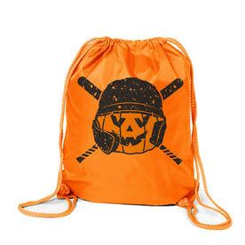 Baseball Sport Pack Cinch Sack - Helmet Pumpkin
