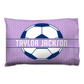 Soccer Pillowcase - Personalized 2 Tier Patterns With Ball