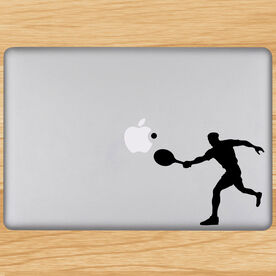 Guy Tennis Player Removable ChalkTalkGraphix Laptop Decal