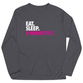 Gymnastics Long Sleeve Performance Tee - Eat. Sleep. Gymnastics.