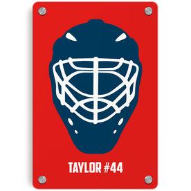 Hockey Metal Wall Art Panel - Personalized Goalie Mask