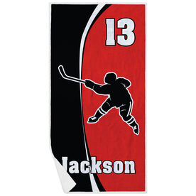 Hockey Premium Beach Towel - Personalized Slapshot