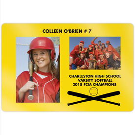 "Softball 18"" X 12"" Aluminum Room Sign - Player and Team Photo"