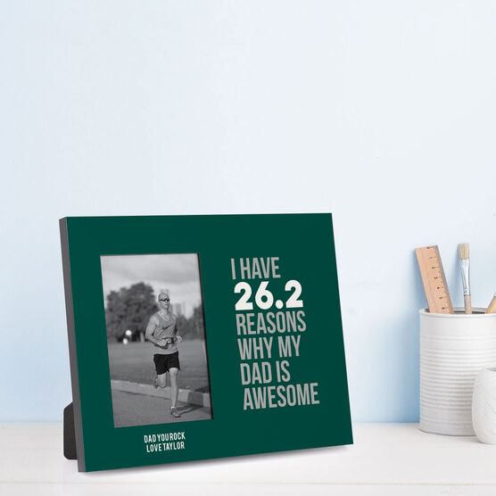 Running Photo Frame - 26.2 Reasons Why My Dad is Awesome