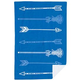 Girls Lacrosse Premium Blanket - Lacrosse Arrows