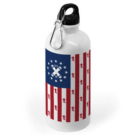 Snowboarding 20 oz. Stainless Steel Water Bottle - American Boards Flag