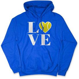 Tennis Standard Sweatshirt - LOVE with Tennis Ball Heart with Neon Yellow