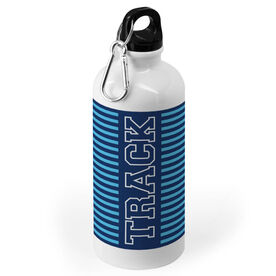Track and Field 20 oz. Stainless Steel Water Bottle - Word With Stripes