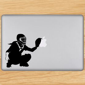 Softball Catcher Removable ChalkTalkGraphix Laptop Decal