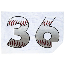 Baseball Premium Blanket - Custom Baseball Numbers