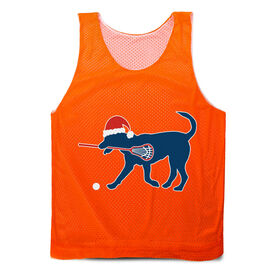 Guys Lacrosse Pinnie - Christmas Dog