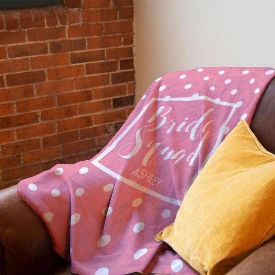 Personalized Premium Blanket - Bride Squad