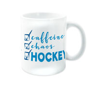 Hockey Coffee Mug - Caffeine, Chaos and Hockey