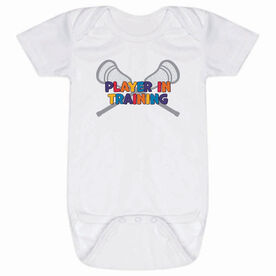 Lacrosse Baby One-Piece - Lacrosse Player in Training