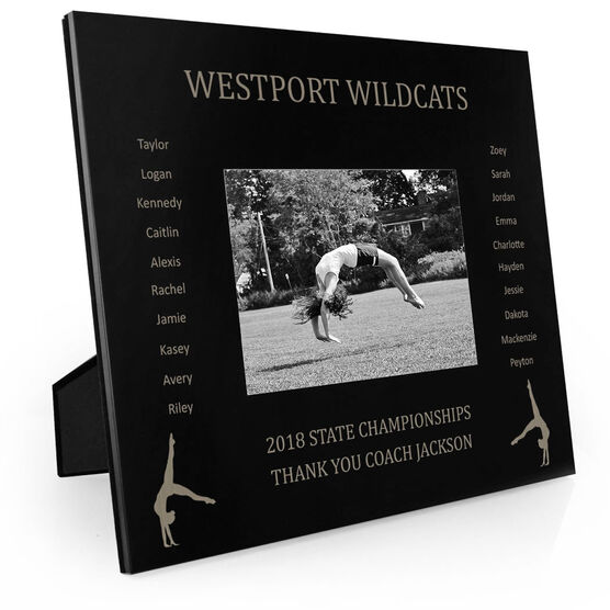 Gymnastics Engraved Picture Frame - Team Name With Roster