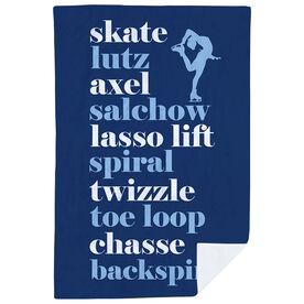 Figure Skating Premium Blanket - Skate Mantra