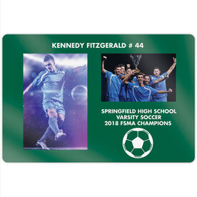 "Soccer 18"" X 12"" Aluminum Room Sign - Player and Team Photo"