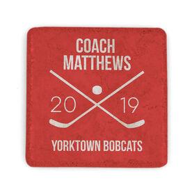 Hockey Stone Coaster - Personalized Hockey Coach