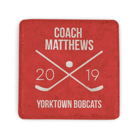 Hockey Stone Coaster - Personalized Hockey Coach