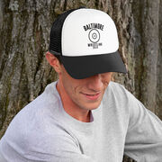 Wrestling Trucker Hat - Team Name With Curved Text