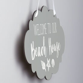 Cloud Sign - Welcome To Our Beach House