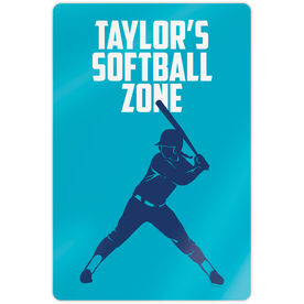 "Softball 18"" X 12"" Aluminum Room Sign - Personalized Softball Zone Batter"