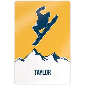 "Snowboarding 18"" X 12"" Aluminum Room Sign - Personalized Airborne"