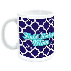 Field Hockey Coffee Mug Mom With Pattern