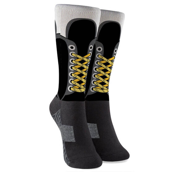 Hockey Printed Mid-Calf Socks - Hockey Skate