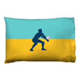 Volleyball Pillowcase - Guy Silhouette