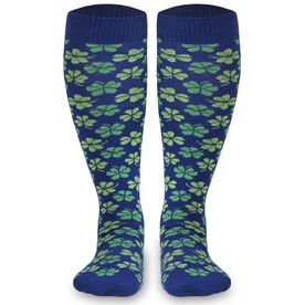 Woven Yakety Yak! Knee High Socks - Shamrocks