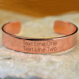 Custom Text Engraved Copper Bracelet