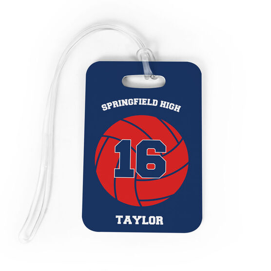 Volleyball Bag/Luggage Tag - Personalized Volleyball Team