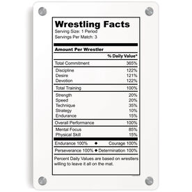 Wrestling Metal Wall Art Panel - Wrestling Facts