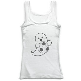 Soccer Vintage Fitted Tank Top - Ghost