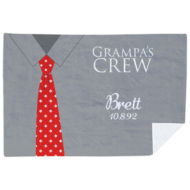 Personalized Premium Blanket - Grampa's Crew