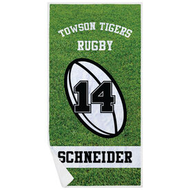 Rugby Premium Beach Towel - Personalized Team