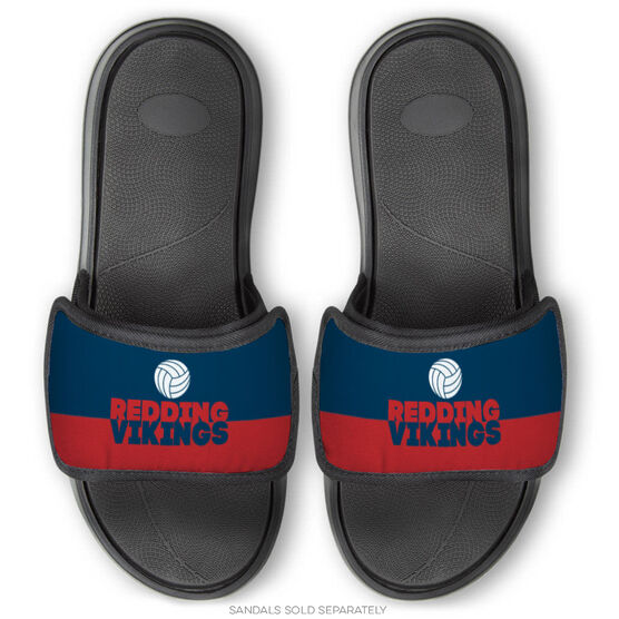 Volleyball Repwell® Sandal Straps - Team Name Colorblock